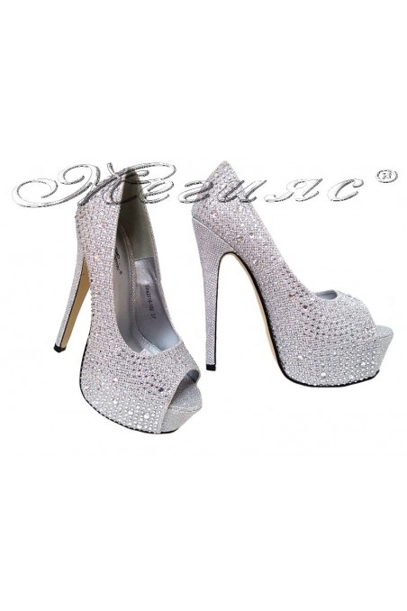 Lady shoes 2016-102 silver