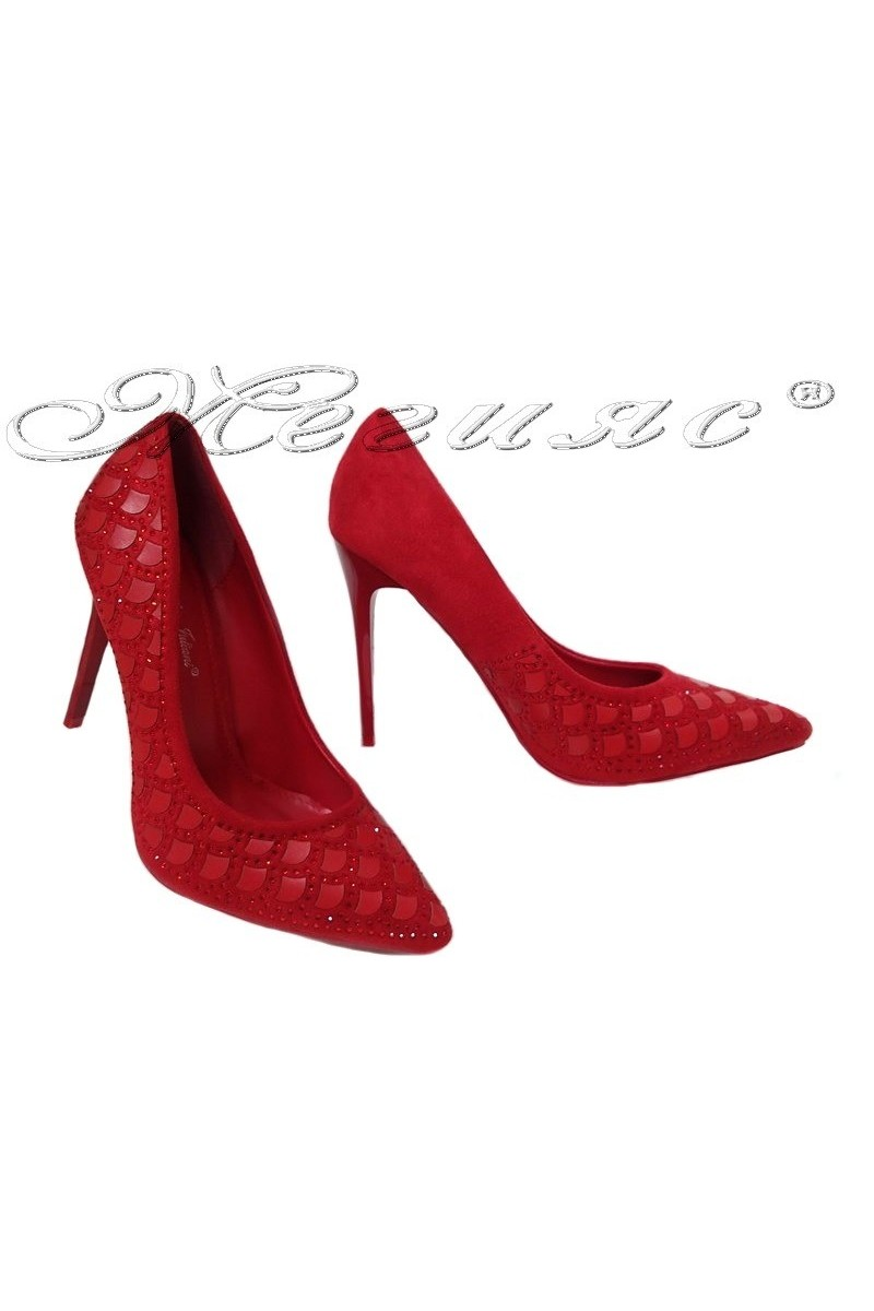 Women elegant shoes WENDY 2016-03 high heel red