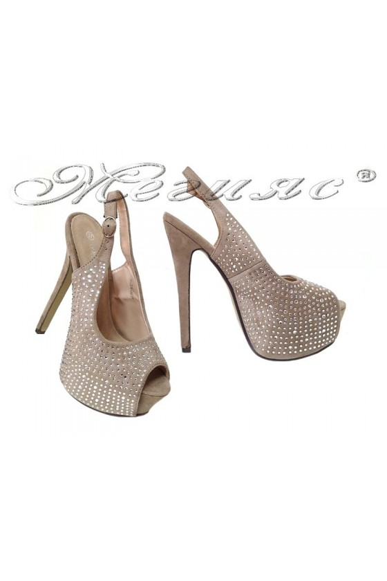 lady shoes 2016-252 beige