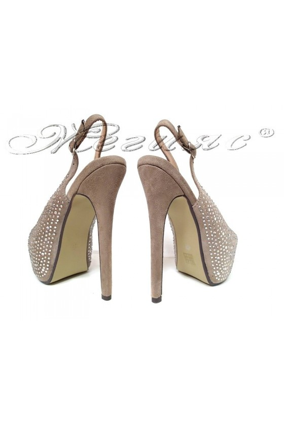 lady shoes 2016-252 beige