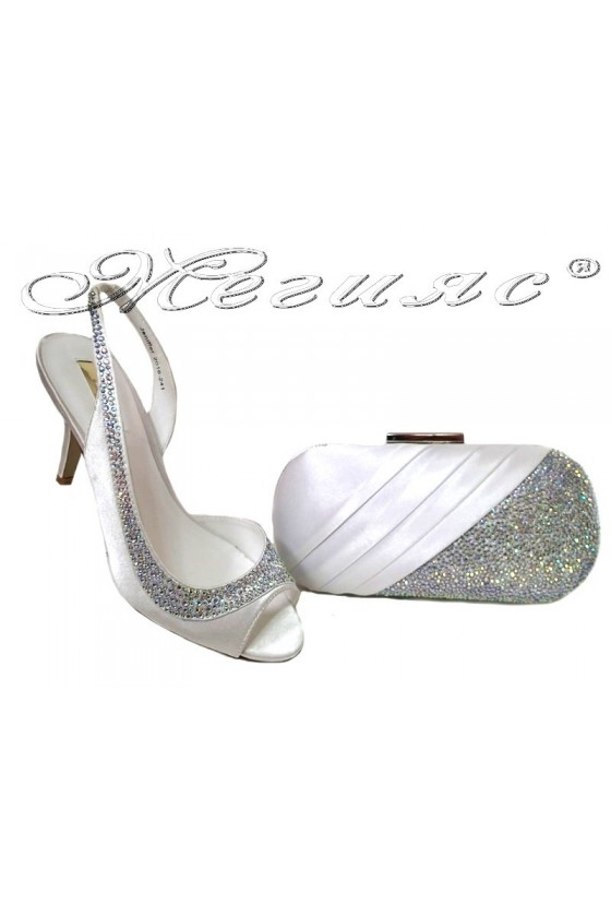 Lady shoes 20S16-241 and bag 241 white