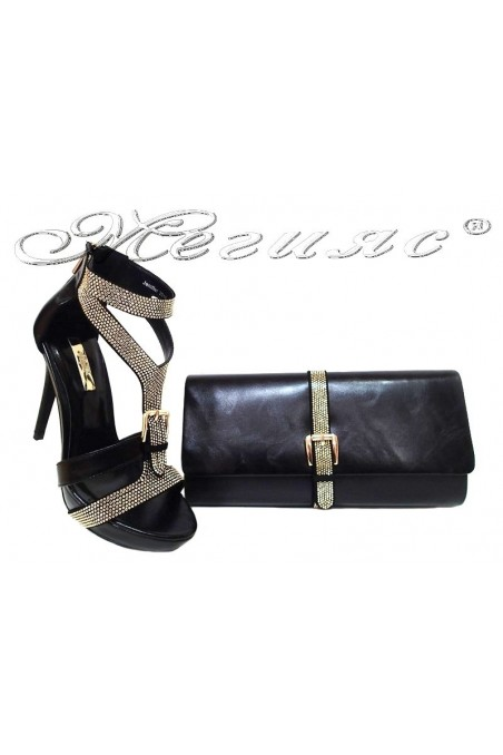 Lady shoes 2016-238 and bag 238 black