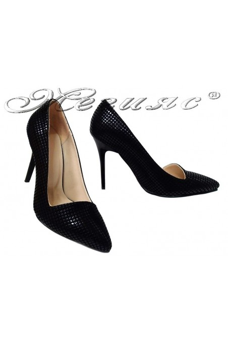 Women elegant shoes 015105 high heel black