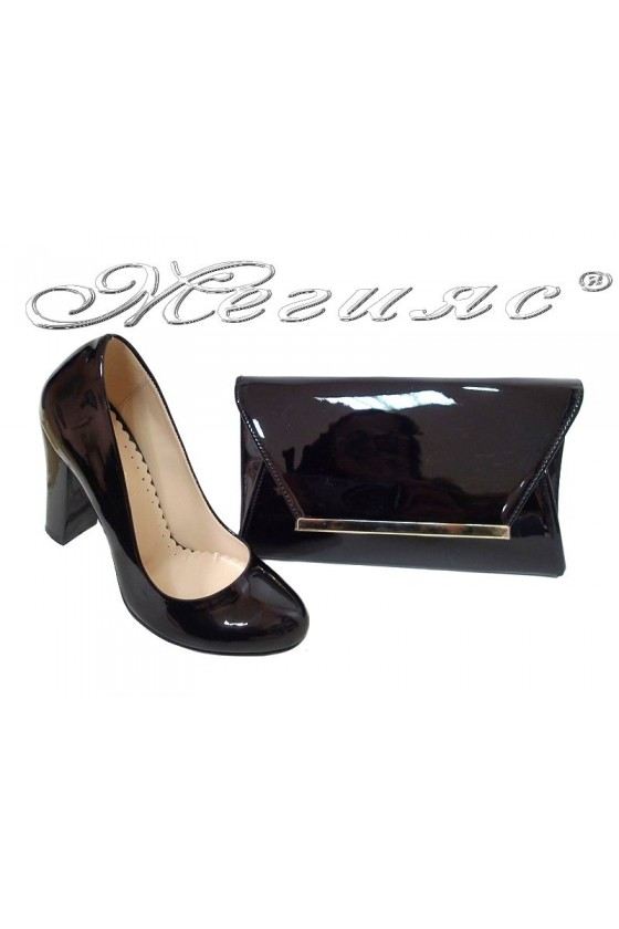 Lady shoes 1330 and bag 558 black