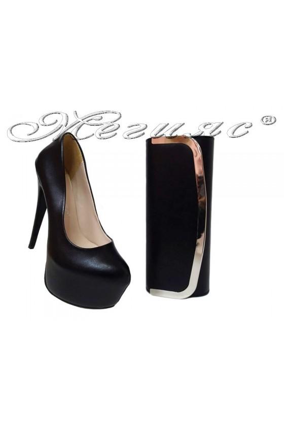 lady shoes 50-elegant anda bag 4734 black