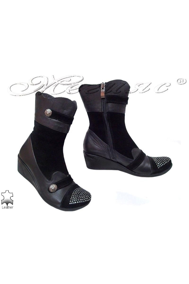Lady boots 04 black leather