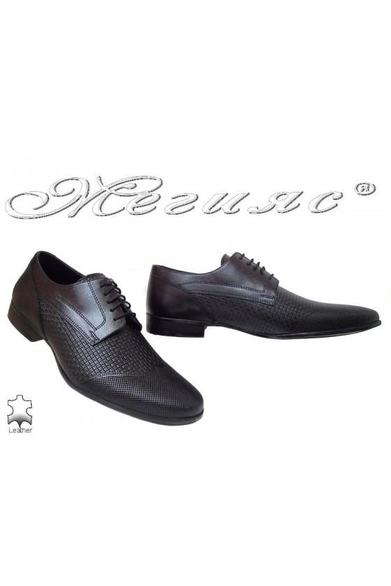 Мъжки обувки Фантазия 16032 черни от естествена кожа елегантни