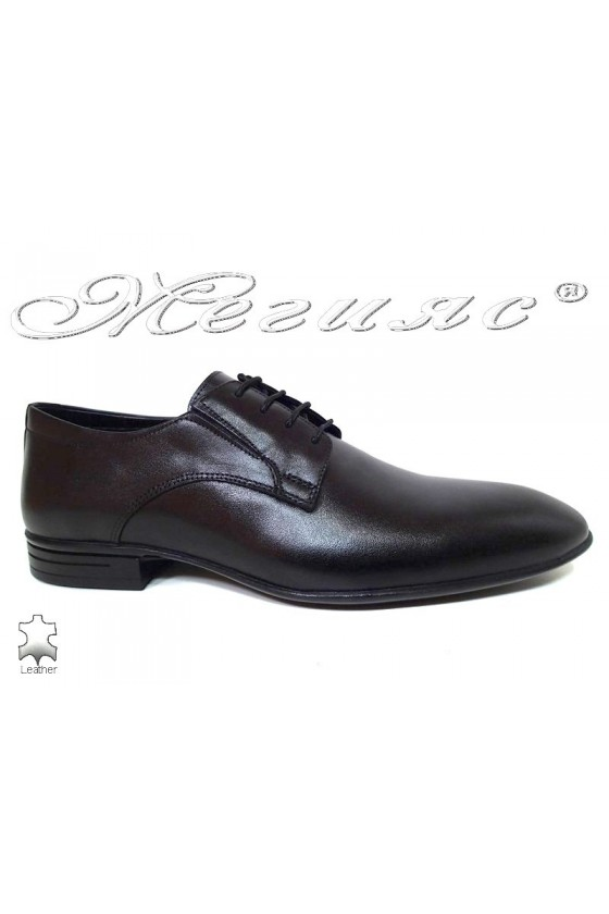 Мъжки обувки черни естествена кожа Фантазия 16004