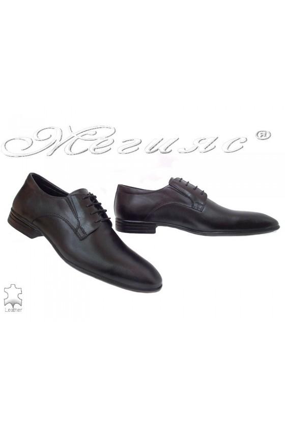 Men shoes Fantazia 16004 black leather