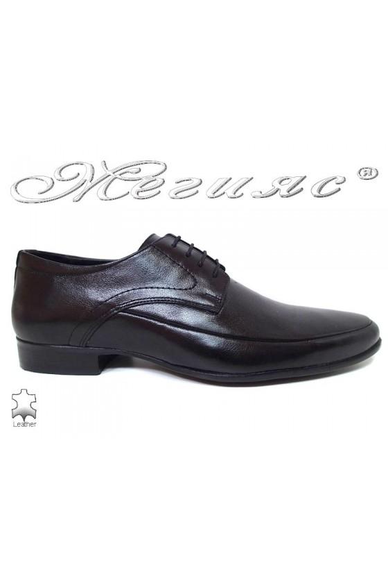 Men elegant shoes 16030 black  leather