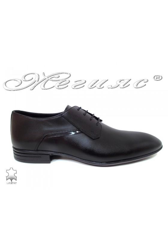 Мъжки обувки Фантазия 16014 черни от естествена кожа елегантни