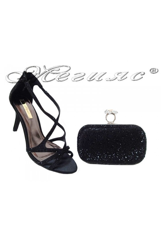 Lady shoes 20S16-242 and bag 235 black