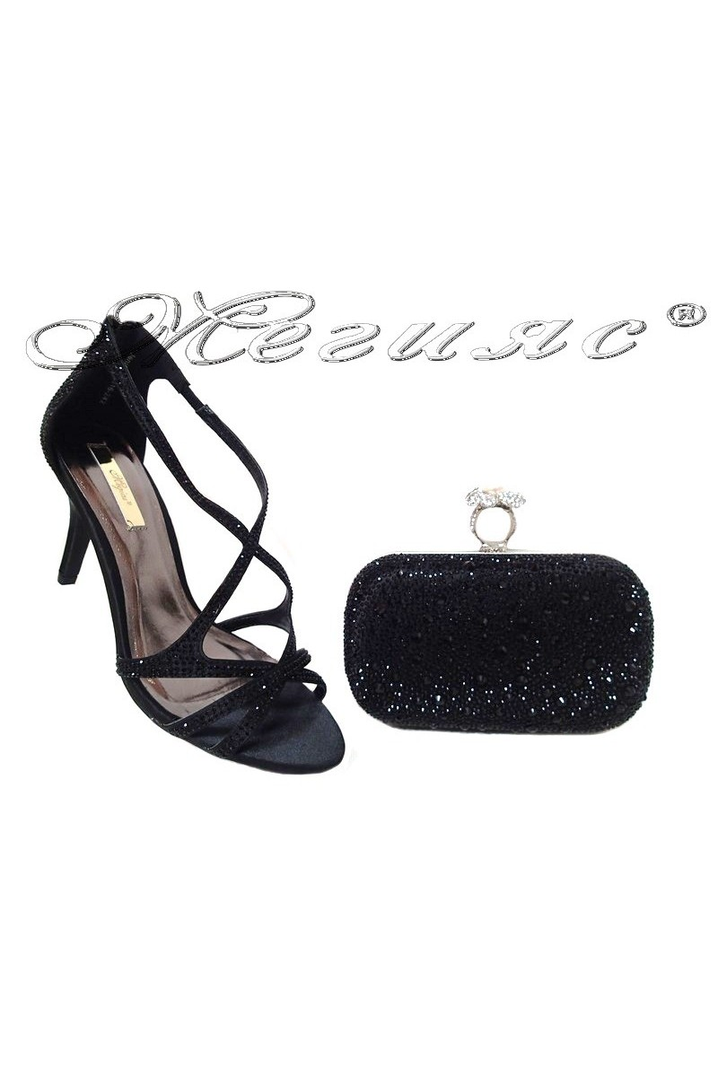 Lady shoes 2016-242 and bag 235 black