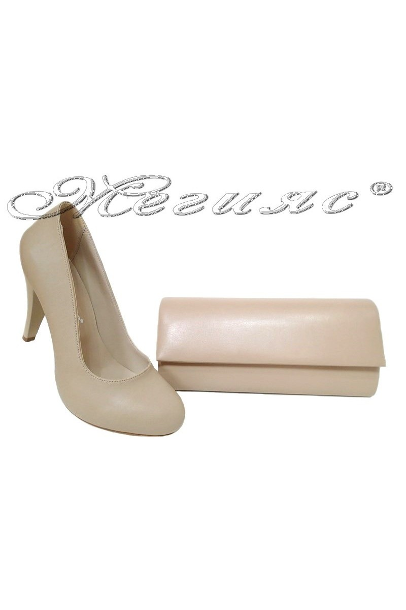 lady shoes 15-k and bag 373 beige