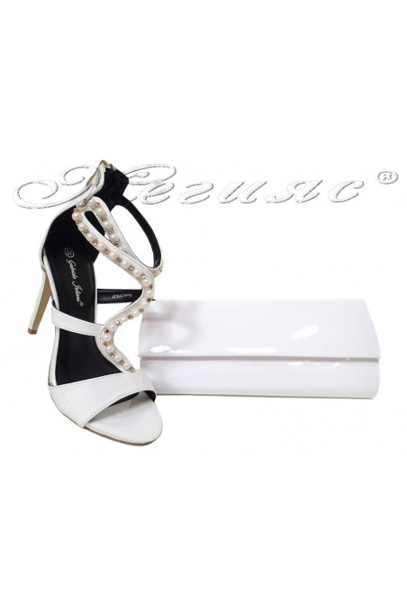 Lady shoes 20S16-21 and bag 373 white