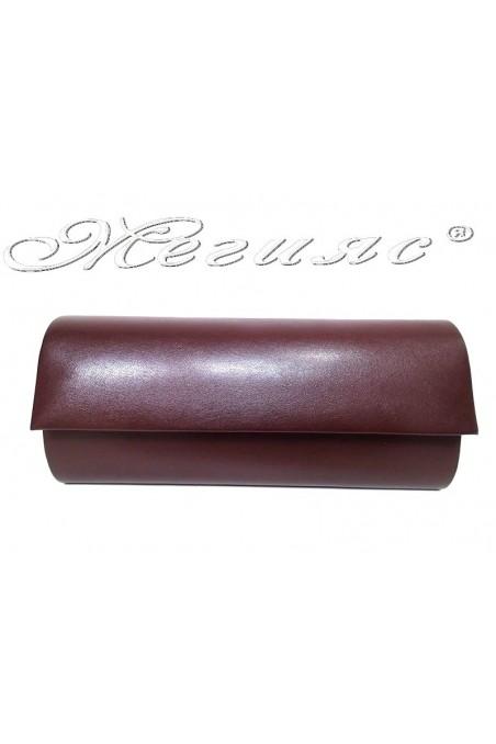 Дамска чанта 373 бордо мат от еко кожа