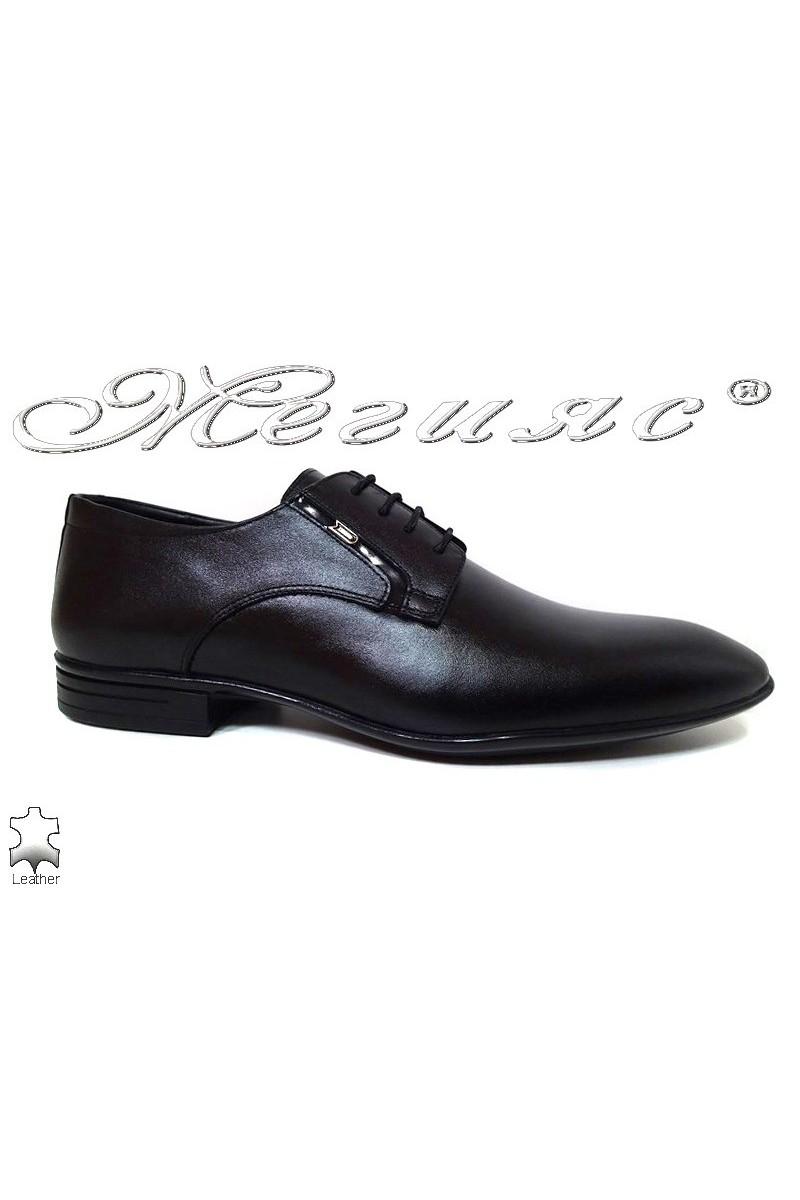 Men shoes Fantazia 16001 black leather