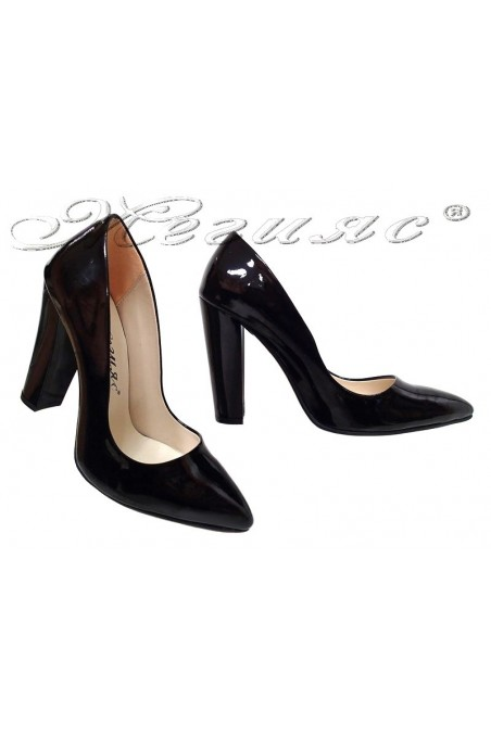 Lady elegant shoes 195 black patent