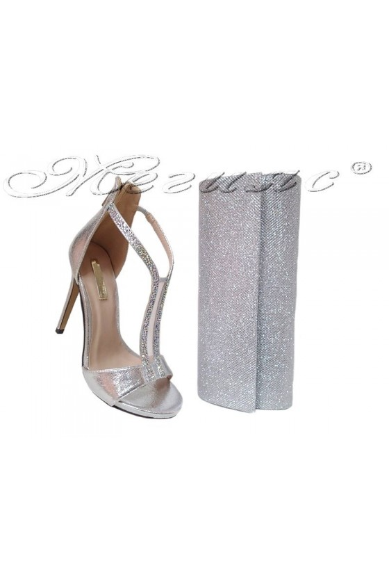 Lady shoes 2016-236 and 373 silver