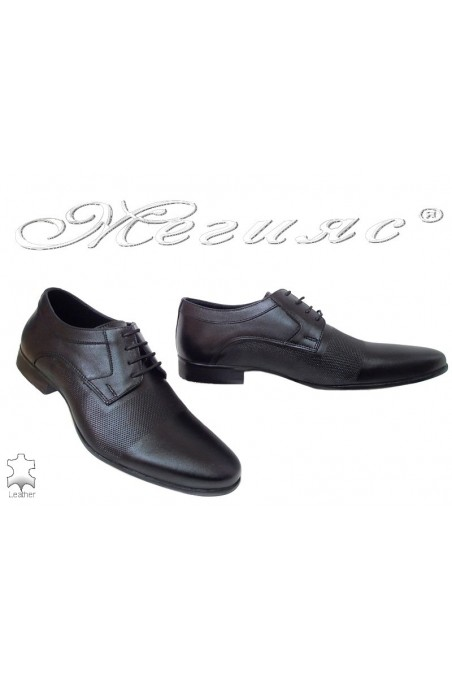 Men shoes Fantazia 16039 black leather