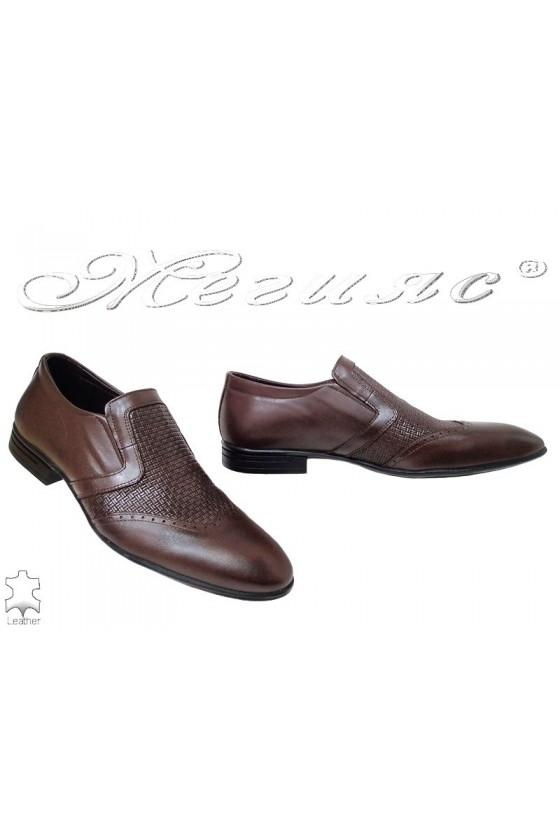 Men shoes Fantazia 16006 brown  leather