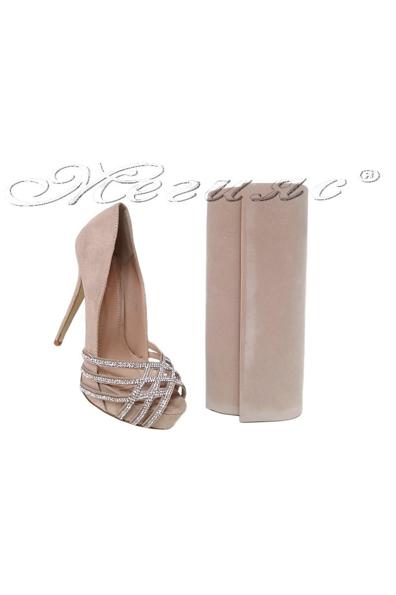 lady shoes 155511 and bag 373 beige