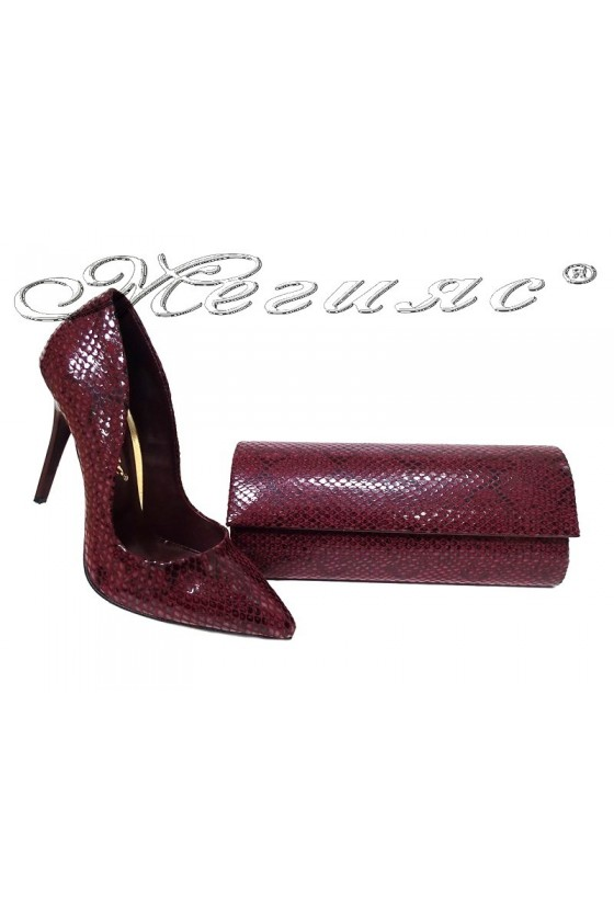 Lady shoes 1800 and bag 373 red
