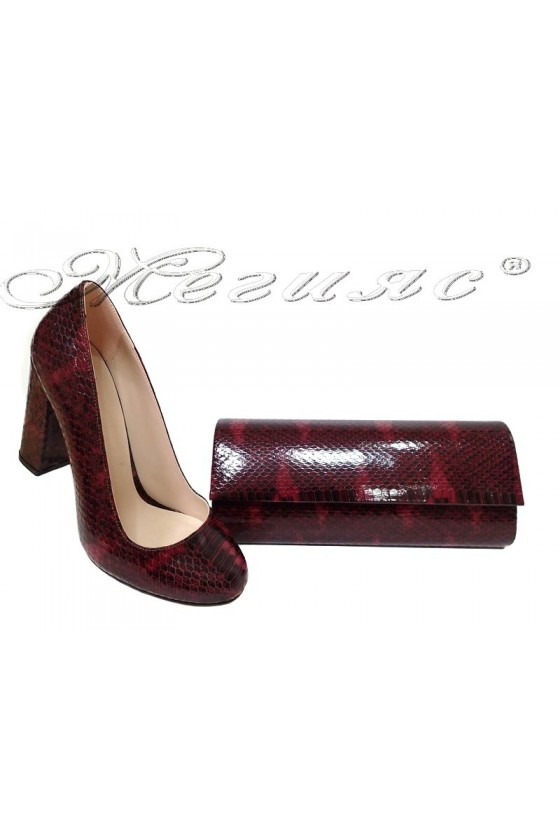 lady shoes 508 and bag 373 red