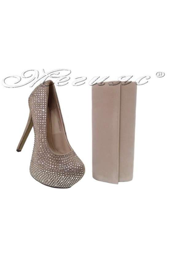 lady shoes 2016-250 and bag 373 beige
