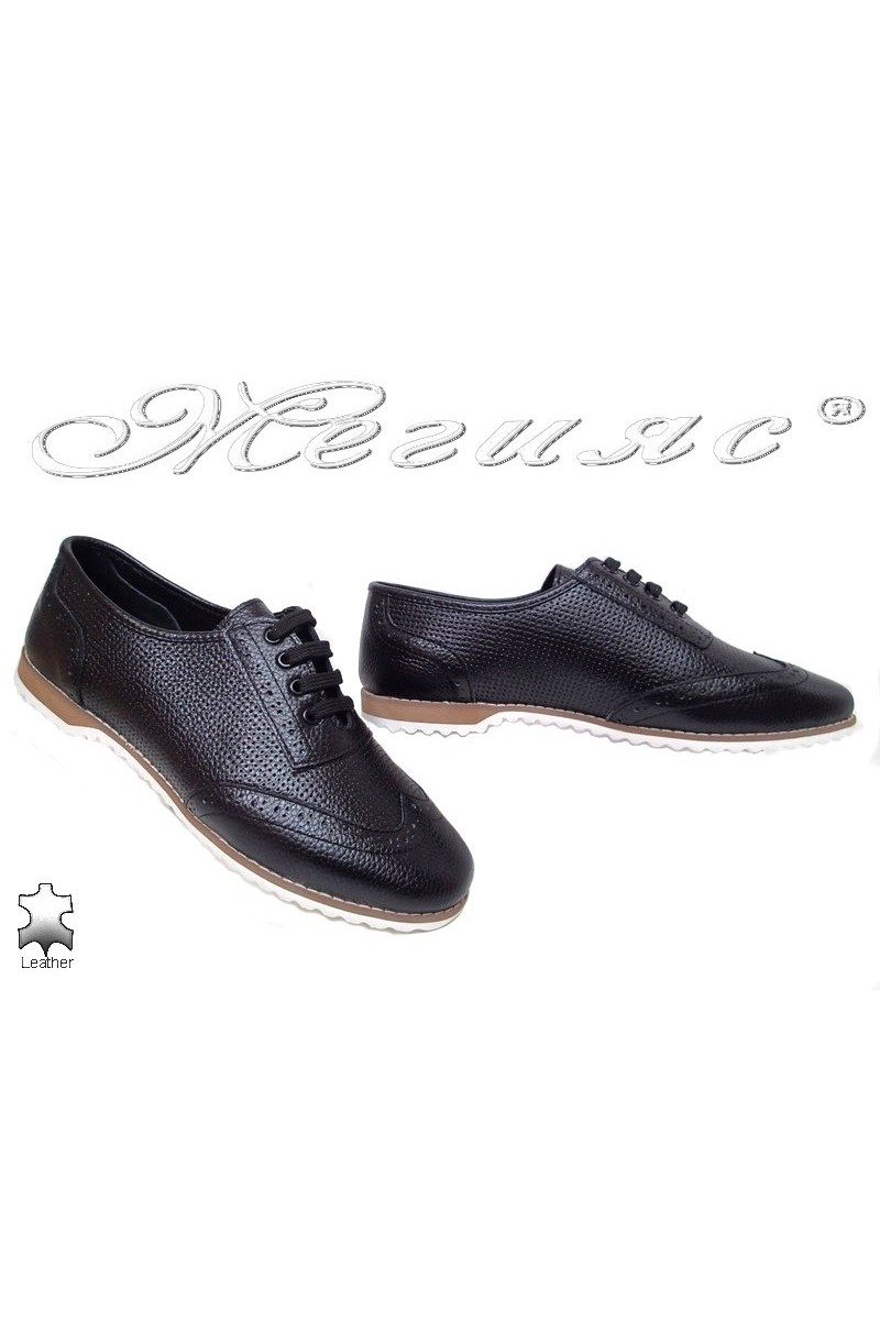 lady shoes 555 black leather gigant