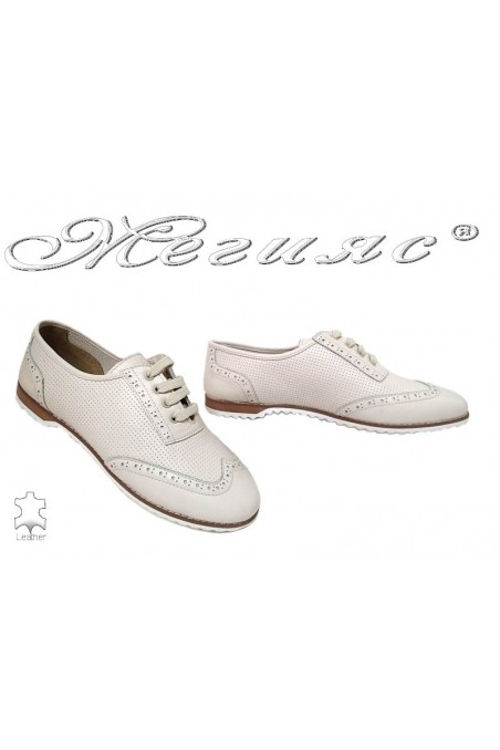 lady shoes 555 beige leather gigant