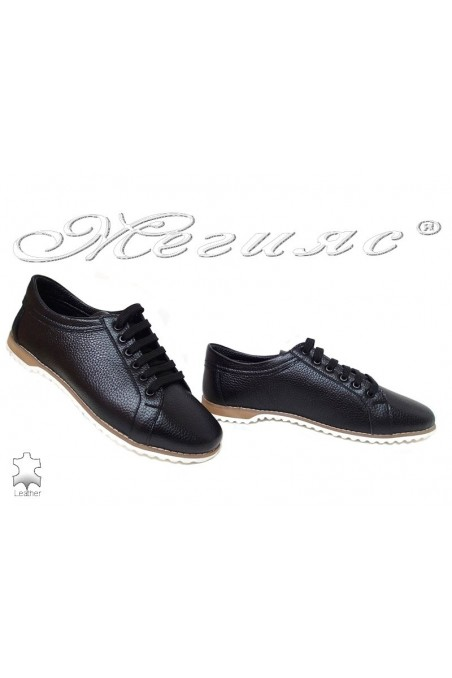 lady shoes XXL 570 black leather gigant