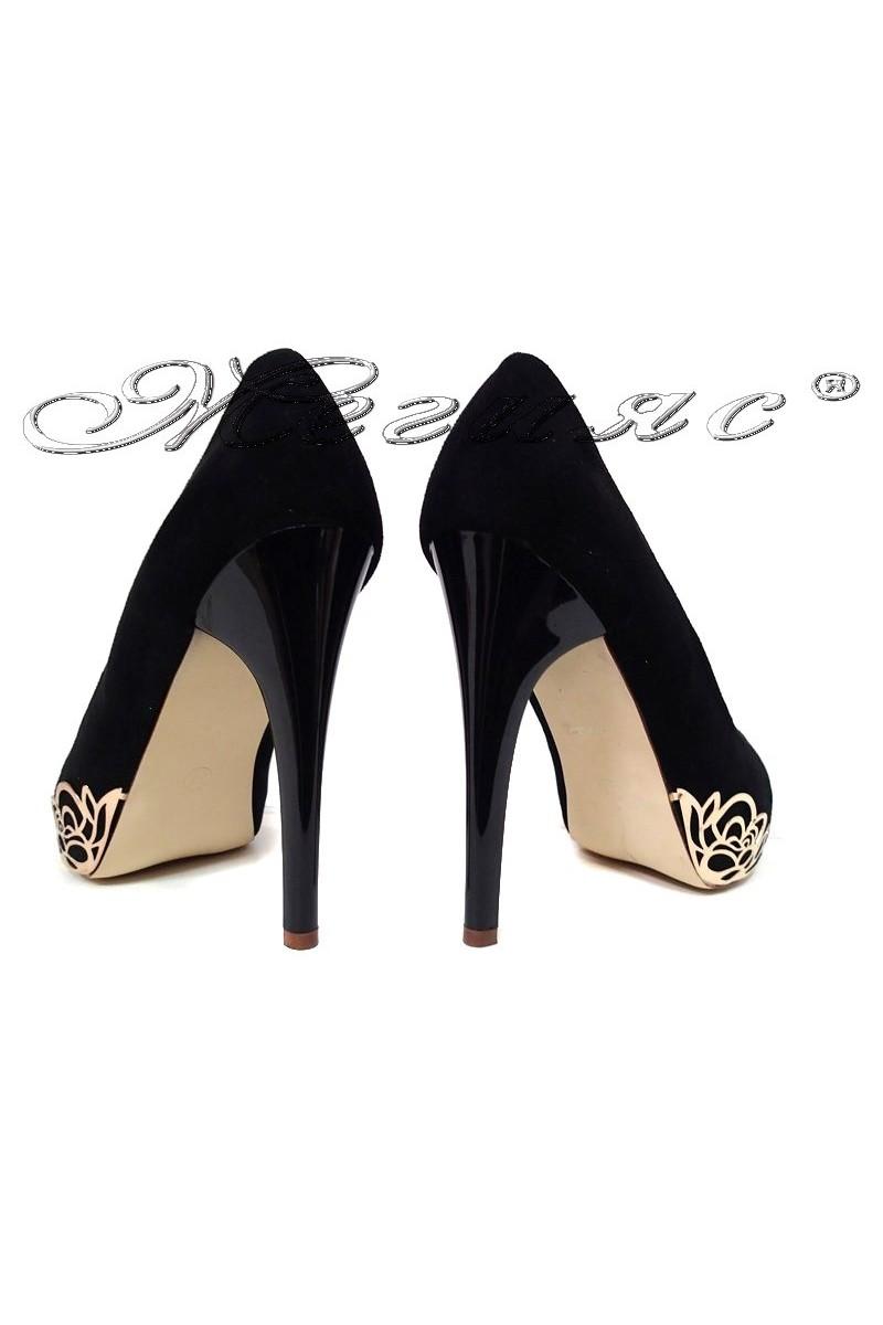 Women elegant shoes 022-2 black  high heel