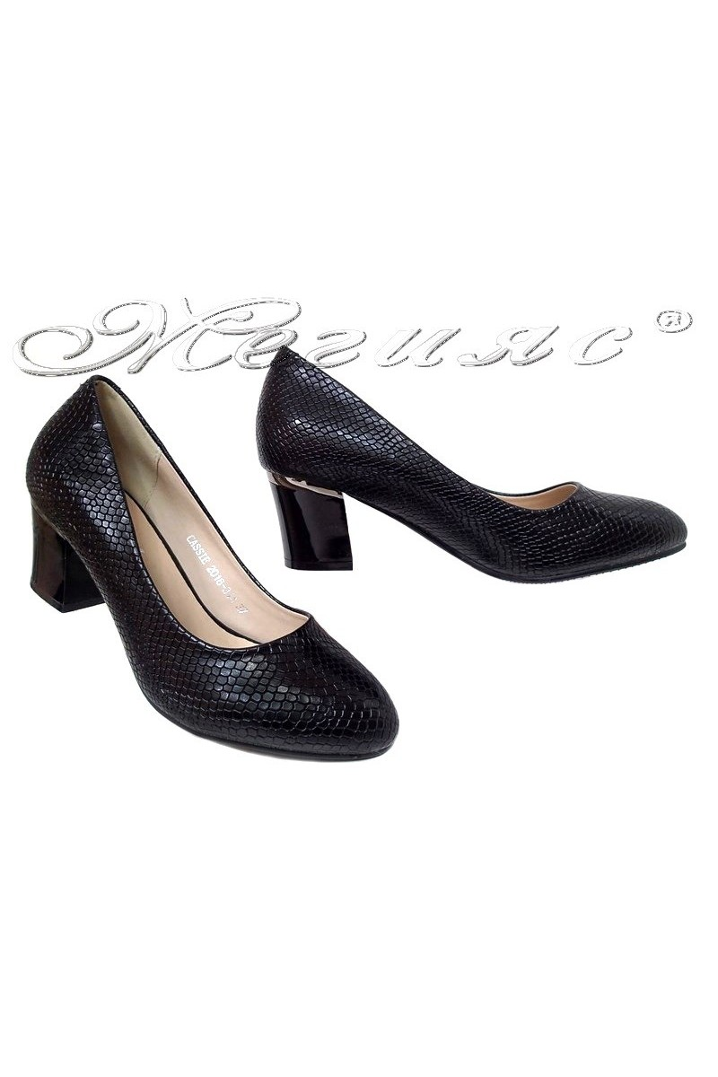 Lady shoes 20S16-314 black pu