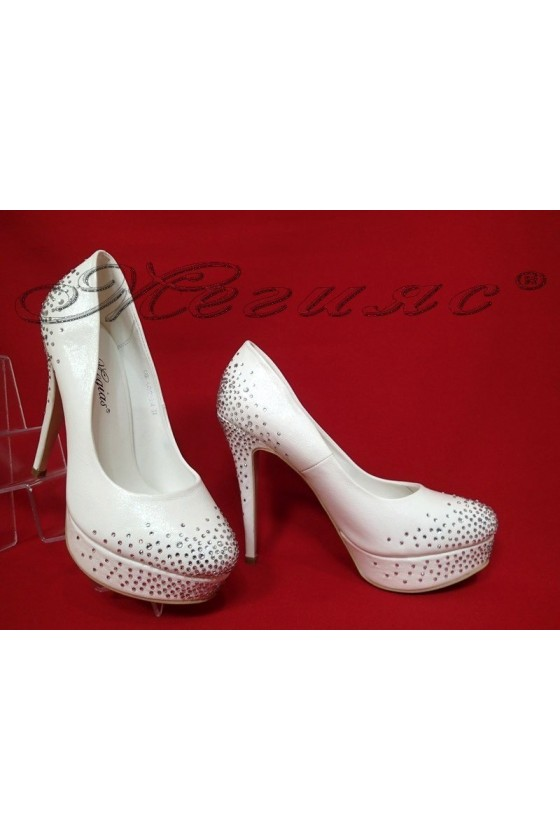 Lady elegant shoes 2016-334 white pu