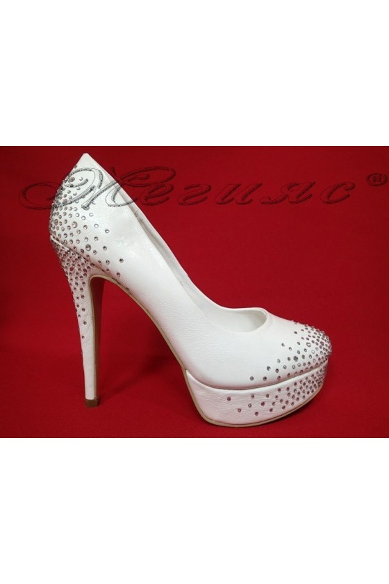 Lady elegant shoes 20S16-334 white pu