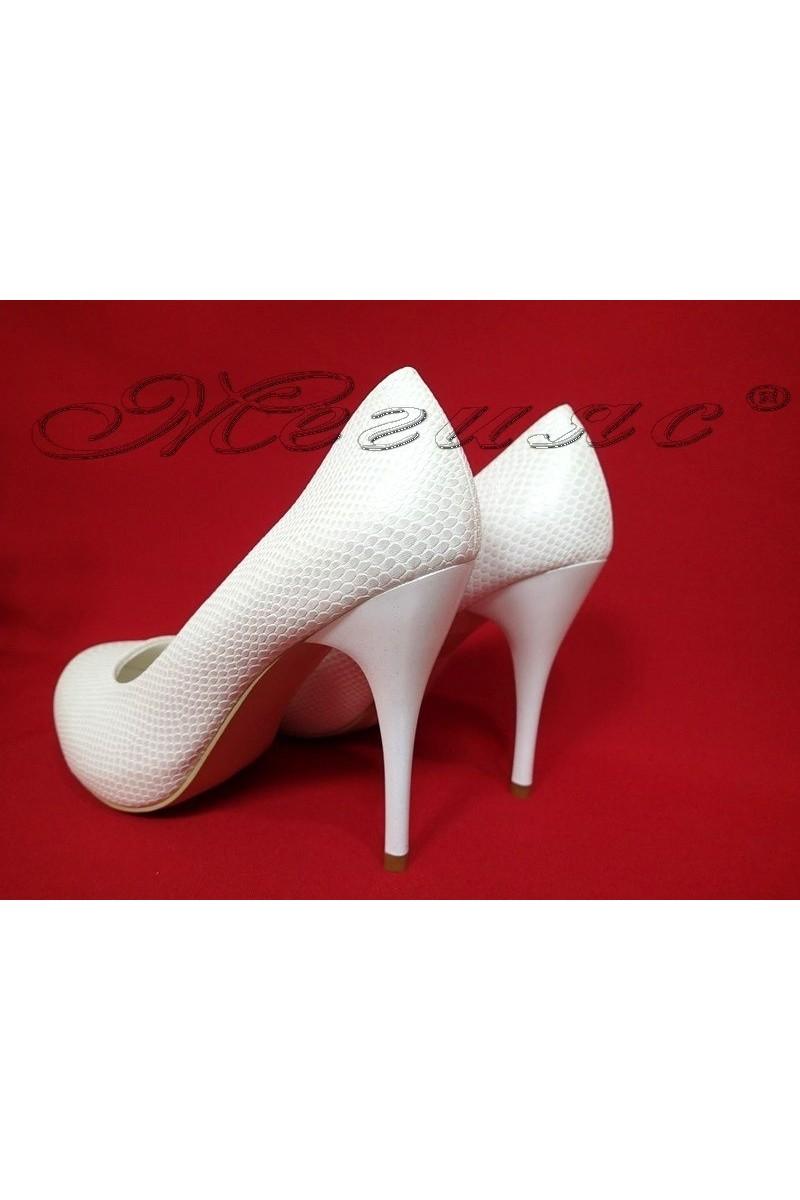 Lady elegant shoes 2016-331 white pu
