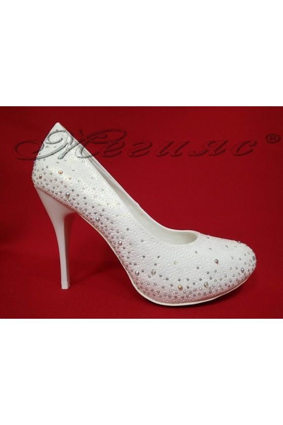 Lady elegant shoes 20S16-330 white pu