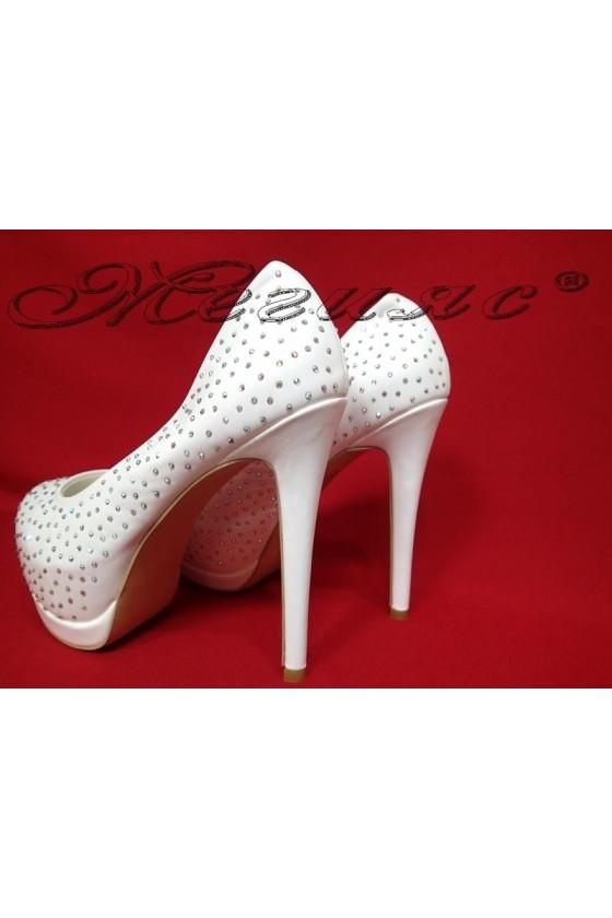 Дамски обувки Carol 20S16-320 бели елегантни висок ток