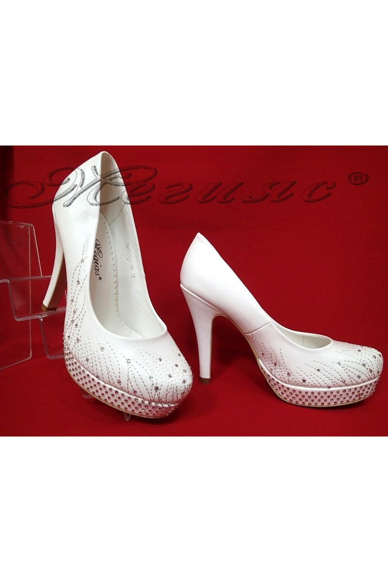 Lady elegant shoes 2016-336 white pu