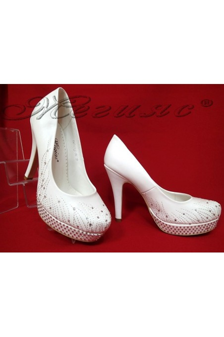 Lady elegant shoes 20S16-336 white pu