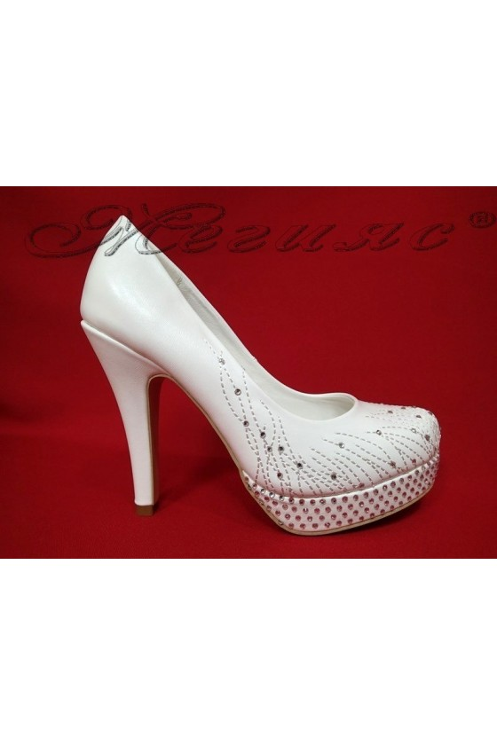 Lady elegant shoes 20S16-336 white pu
