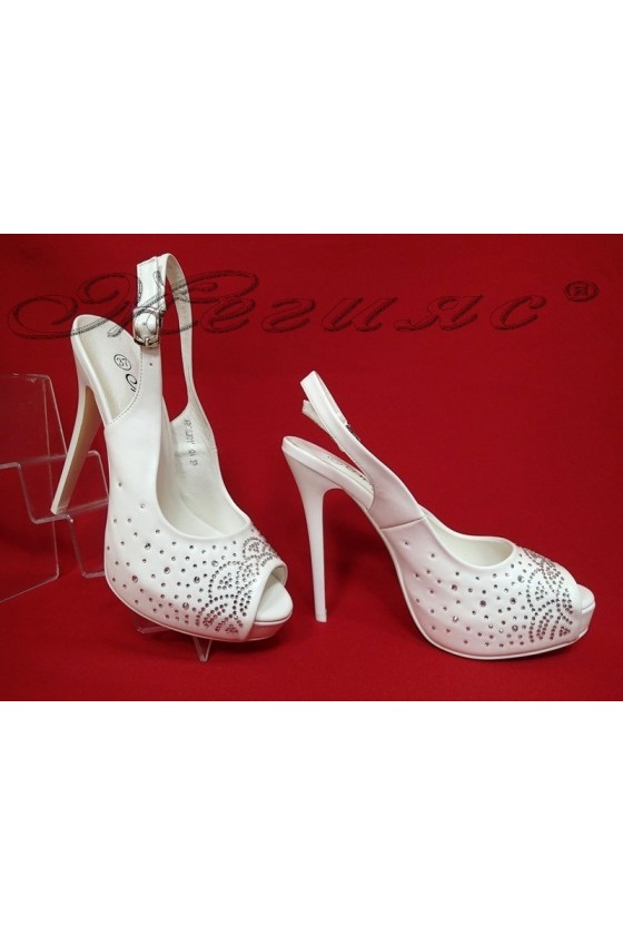 Lady elegant shoes 2016-324 white pu
