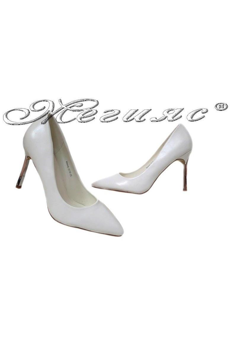 Lady elegant shoes Wendy 2016-05 white