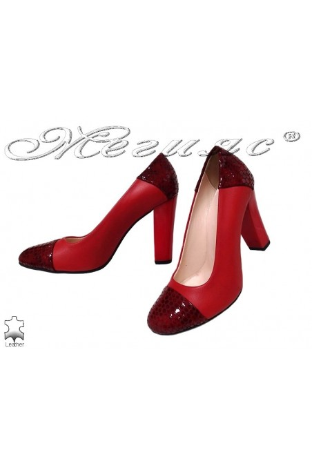 Lady elegant shoes 75 red leather