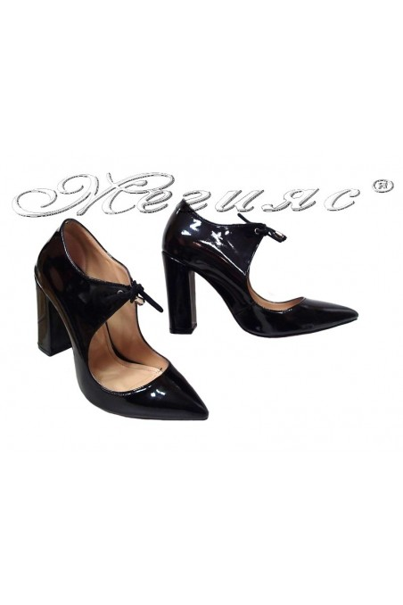 Women elegant shoes 6003 black high heel