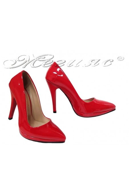 Women elegant shoes 530 red patent