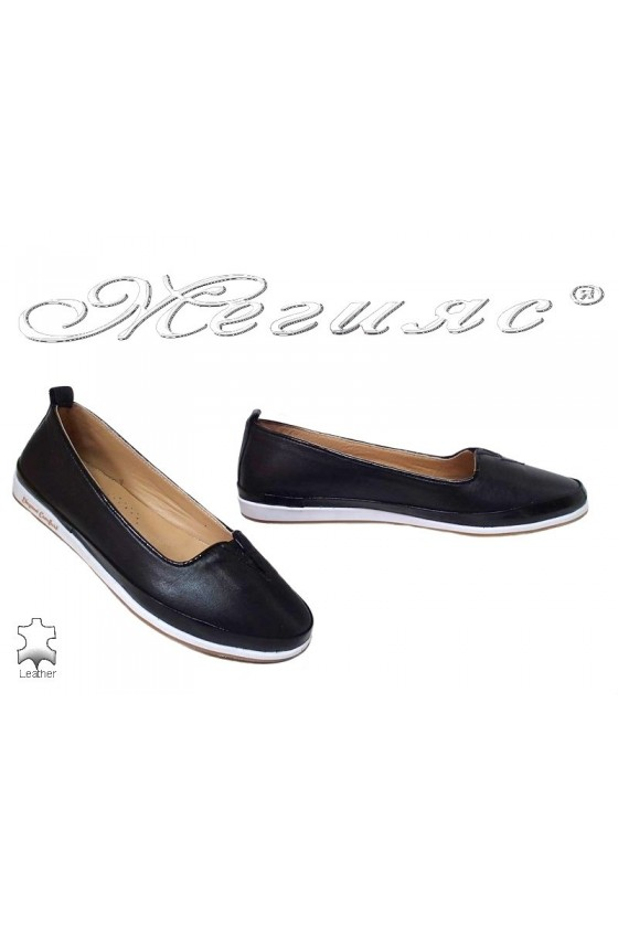 Women shoes 214-2 black leather