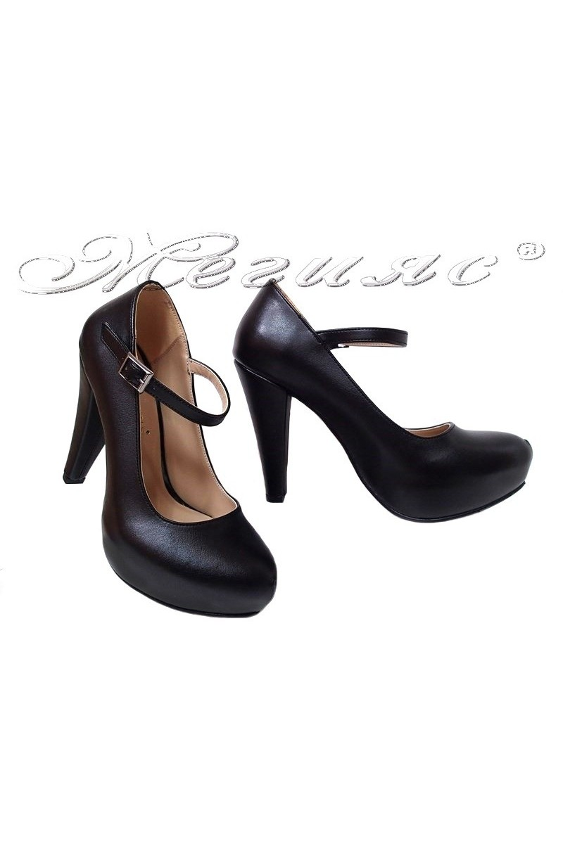 Women elegant shoes 520 black pu
