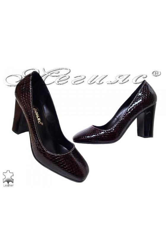 Lady shoes 301-76 bordo leather